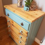NOW SOLD. Hand Painted Chest of Drawers, Five Draw Chest of Drawers,  Bedroom Drawers, Solid Wood Drawers, Bedroom Furniture, Dressing Table