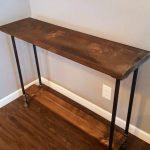Narrow console table with shelf, Buffet Table, Reclaimed Wood Table, Accent Table, Long Sofa Table, Entry Hall Table,