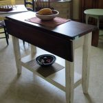 Narrow drop leaf Dining Table with storage                                      ...