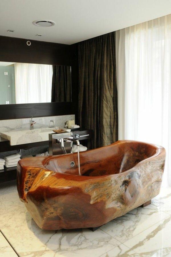 Natural wood furniture solid wood solid furniture design bathtub