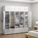 New Closet Wardrobe Space Saving Portable Clothes Storage Organizer with Shelves