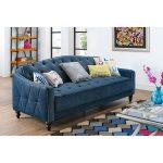 Novogratz Vintage Tufted Sofa Bed in Velour, Multiple Colors - Walmart.com