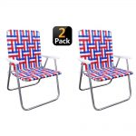 OUTDOOR SPECTATOR Red/White/Blue Reinforced Aluminum Classic Webbed Folding Lawn/Camp Chair (2-Pack)-886783005124 - The Home Depot