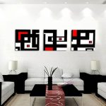 Online Shop Hot Sell Modern abstract Wall Painting black red and white Home Wall Art Picture Paint on Canvas Prints 3 Pieces | Aliexpress Mobile