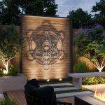 Outdoor Metal Wall Art Sculpture, Extra Large Metal Wall Art, Metatron Cube, Sacred Geometry Wall Art, Stainless Steel, Modern, Arte & Metal