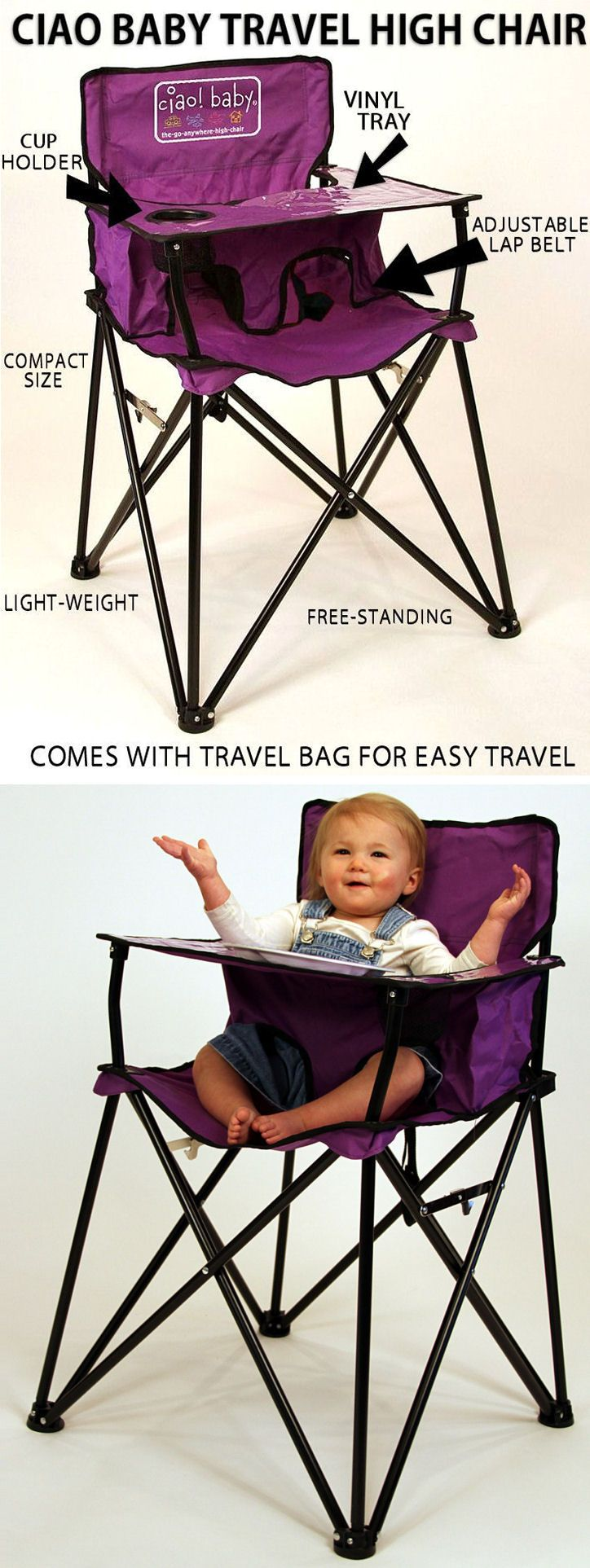 Portable Baby High Chair   Folds Up For Easy Travel. Great For Park, Camping, Re…