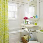 Privacy for shower windows: a small shower curtain rod, trimmed down shower curt...