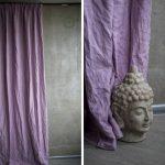 Purple linen fabric curtains, Custom lilac curtain panels, Natural linen fabric drapes, Natural linen home decor, Lilac window treatment