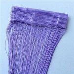 Purple2m*1m 12 Colors String Curtains Door Window Panel Curtain Divider Yarn String Curtain Strip Tassel Drape Decor for Living Room