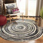 RUG RAG braided round rug, meditation mat, mandala rug, bohemian decor, colourful area rug home decor rug floor rug circle rugs Braided 2x2'