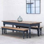 Reclaimed Farmhouse Dining Table - Rustic Kitchen Table - Painted Dining Table - Handmade Dining Table - Victorian Dining Table