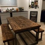 Reclaimed Industrial Chic 6-10 Seater Extending Dining Table - Bar Cafe Restaurant Furniture Steel Solid Wood Metal Made to Measure 131