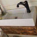 Reclaimed Wood Floating Vanity