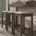 Rokane Counter Height Dining Room Table and Bar Stools (Set of 4), Brown
