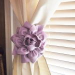 Rose Flower Curtain Tie Backs Curtain Tiebacks Curtain Holdback -Drapery Tieback-Baby Nursery Decor-Light Pink Decor