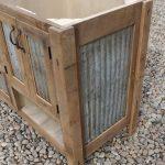 """Rustic Bathroom Vanity (60"""") - Dual Sink, Reclaimed Barn Wood w/Barn Tin #9490"""