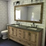 """Rustic Bathroom Vanity (72"""") - Dual Sink, Reclaimed Barn Wood w/Paneled Doors Raised Grain Removed (Unfinished) #4066"""