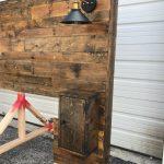 Rustic Bed Set, Headboard, Footboard, Bed Frame, Cabinets,Outlets, Lights, King Headboard, Queen Headboard, Distressed, Modern Headboard