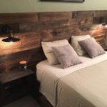 Rustic Wood Headboard, Distressed, Headboard, Reclaim, Cabinets, USB Outlets, Lights, Barnwood, Modern Headboard