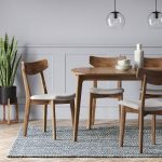 Set of 2 Astrid Mid Century Dining Chair Brown/Gray - Project 62