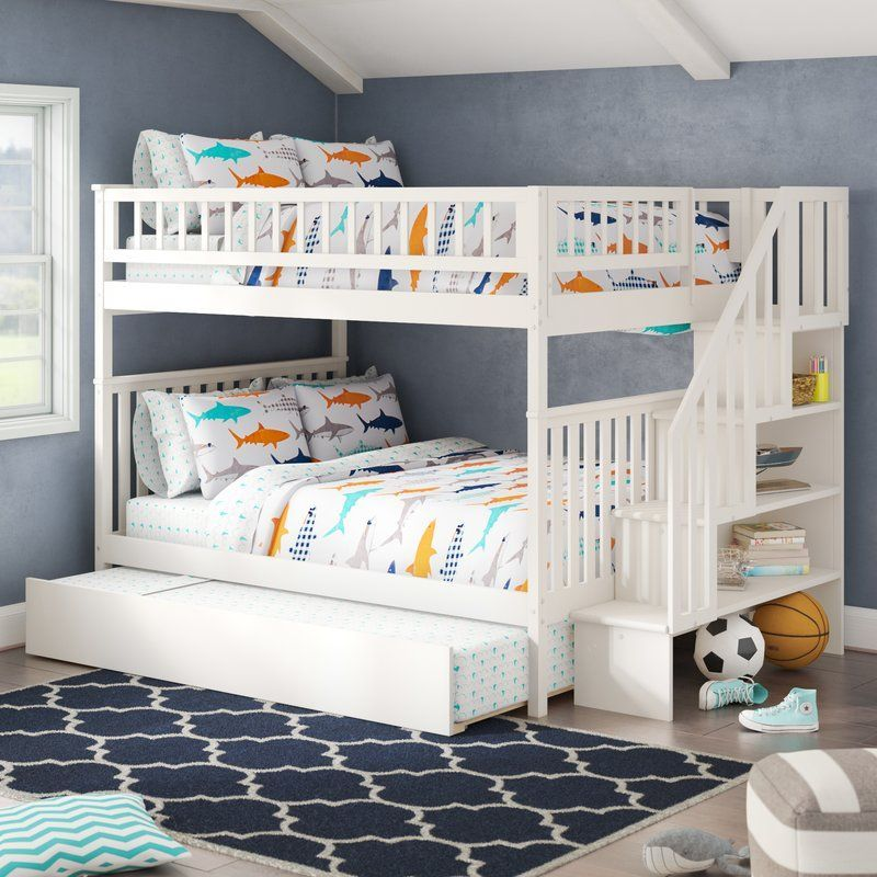 Shyann Full Over Full Bunk Bed with Trundle
