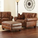 Silverado Chair and a Half with Ottoman and Nailhead Trim by Vendor 3985 at Becker Furniture World