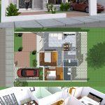 Simple Home Design Plan 10x8m with 2 Bedrooms - SamPhoas Plan