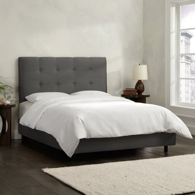 Skyline Furniture Double Button Tufted Upholstered Standard Bed   Birch Lane