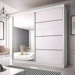 Sliding door wardrobe white mirror 42 Ideas