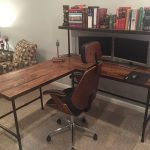 Solid Barn Wood Desk made with reclaimed wood and iron pipe legs.  Choose size, height, thickness and finish.  Custom inquiries welcome.