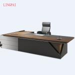 Source Modern luxury office furniture walnut wooden executive ceo european style… - bingefashion.com/interior