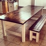 Stained and Distressed Farmhouse Table and Bench | Ana White