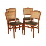 Stakmore Co. Inc. Vintage Quality French Country Style Set 4 Cane Back Folding Dining Chairs