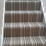 Stripe Stair Carpet - not sure how it would work on the turn in ours stairs .......