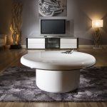 Superb Extra Large Modern Round White Gloss 1mt Dia Coffee Table 229E