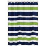 Sweet Jojo Stripes Shower Curtain (Shower Curtain), Blue, Sweet Jojo Designs