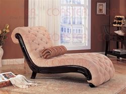 Tan Fabric Chaise Lounge by Coaster – 550064N