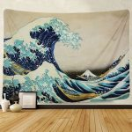 Tapestry Wall Tapestry Wall Hanging Tapestries The Great Wave Off Kanagawa Thirty-six Views of Mount Fuji Tapestry Wall Blanket Wall Decor Wall Art Home Decor | Wish