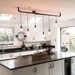 The Burnham 6 x pendant drop light hanging lights ceiling dining room retro kitchen table + e27 vintage edison screw filament