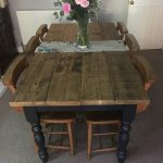 The Farmhouse Dining Table Set with Benches - Rustic Table & Benches - Reclaimed Dining Set - Handmade Dining Set