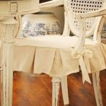 Thinking about making a drop cloth slip cover for Lucy's rocking chair that I fo...