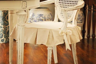 Thinking about making a drop cloth slip cover for Lucy's rocking chair that I fo…