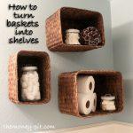 Turning Baskets into Shelves