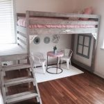 Twin rustic chic loft bed WITH Stairs! Kids loft bed | teen |