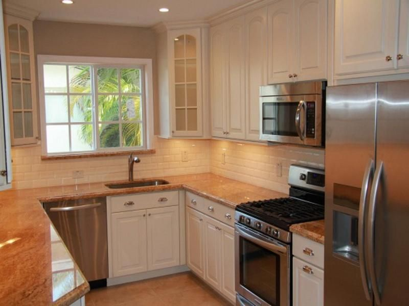 … U Shaped Kitchen Layout For Small Kitchens Small Kitchen Layout Ideas With I…