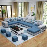 US $1119.99 50% OFF|Living Room Sofa Set Home Furniture Modern Cotton Fabric Solid Wood Frame Soft Sponge U Shape Custom OEM Home Furniture Set-in Living Room Sets from Furniture on Aliexpress.com | Alibaba Group