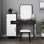 US $356.0  Modern Style Bedroom Woman Makeup Dressers MDF Board White Color Dressing Table Stool 3 Pieces Mirror Dresser with Chair Set on AliExpress - 11.11_Double 11_Singles' Day