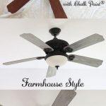 Ventilateur de plafond DIY Makeover Farmhouse Style