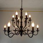 Vintage Black Metal Chandeliers Wrought Iron Home Chandelier For Living Room Industrial Metal Chandelier Rustic candelabra lamp