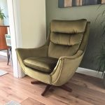 Vintage Egg Chair, Mid Century Parker Knoll Tilt & Swivel Egg Chair, Green Velvet Egg Chair, Retro Egg Chair, Occasional Chair, MCM Chair